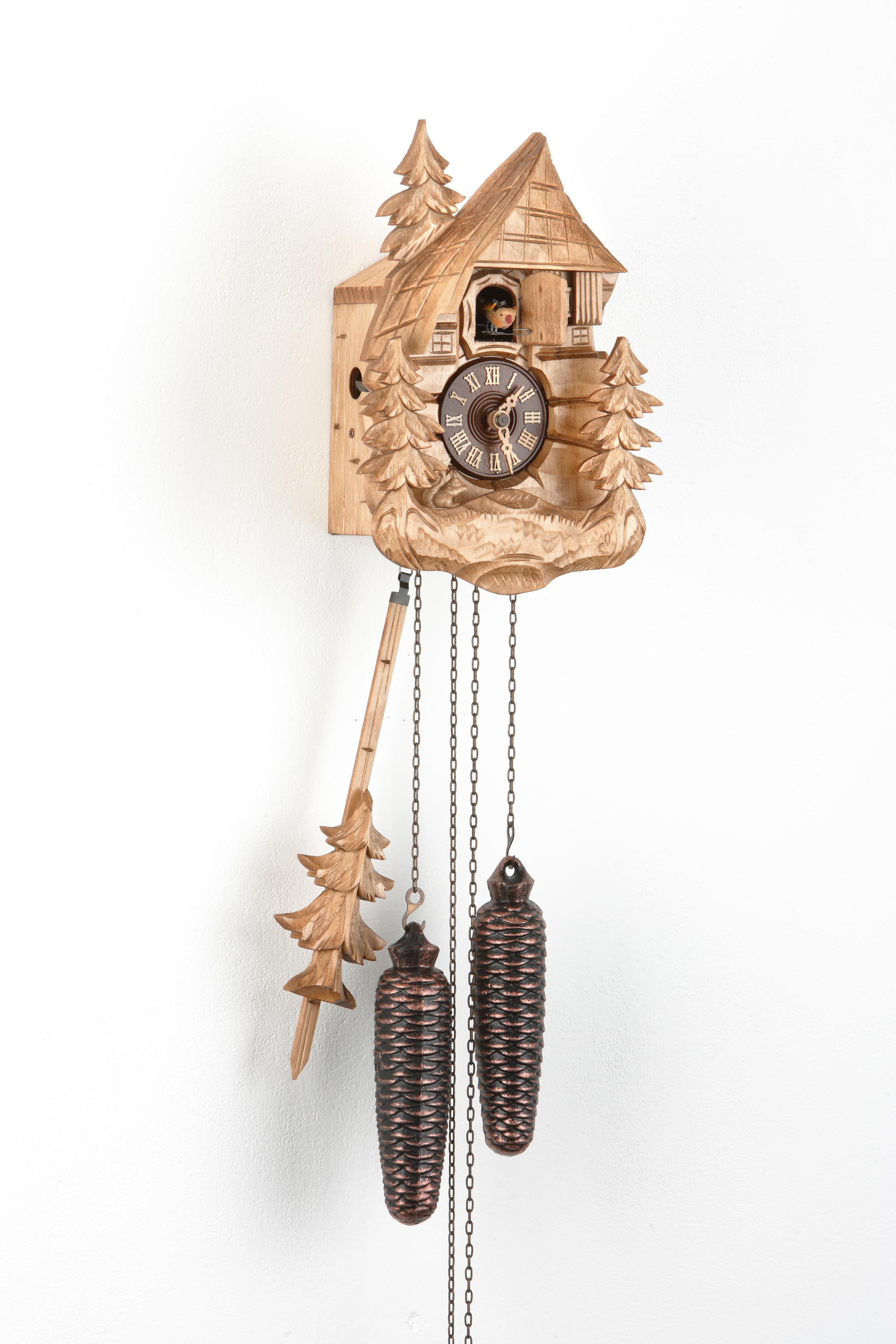8 Days Cuckoo Clock Black Forest Farmhouse with squirrel