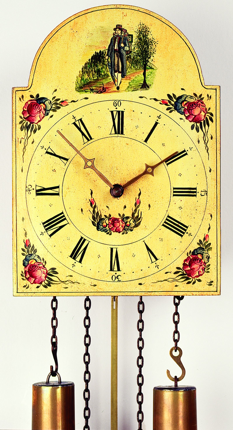 "8 Days Shield Clock  ""Clockpeddler"" -handpainted-"