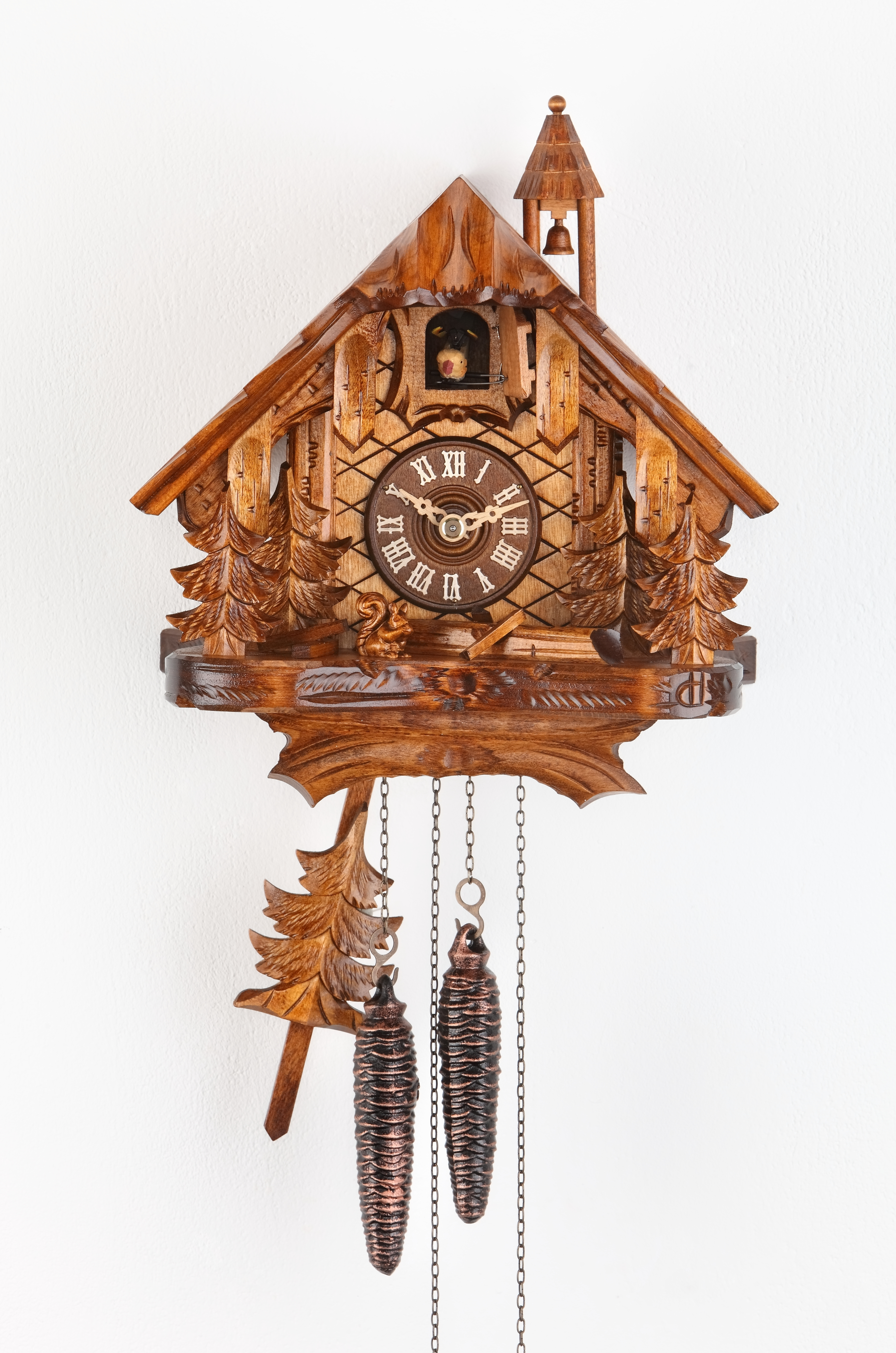 1 Day Cuckoo Clock Black Forest House with trees