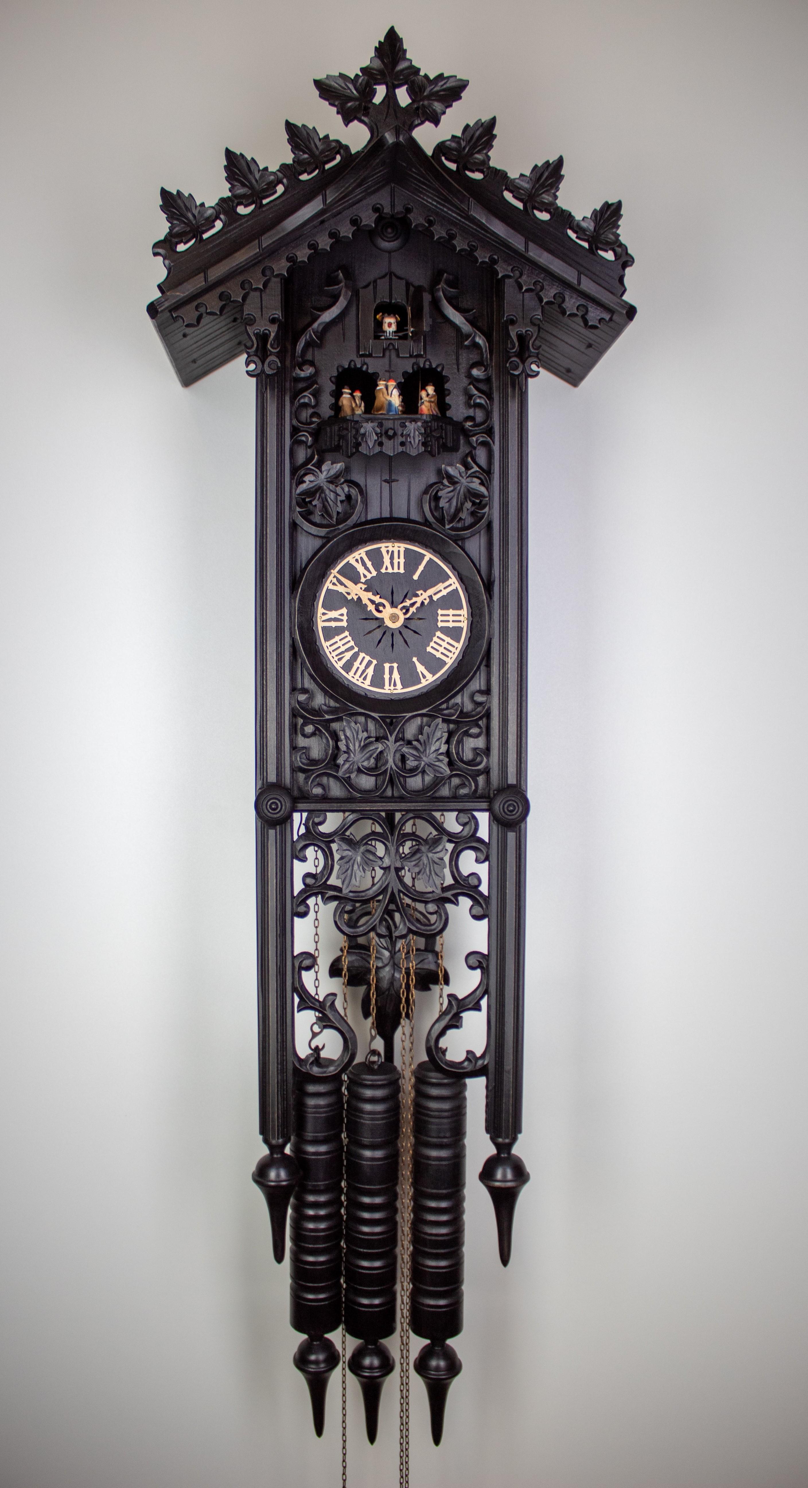 "8 Days Music Dancer Cuckoo Clock Railroad House (""Bahnhäusle"") long"