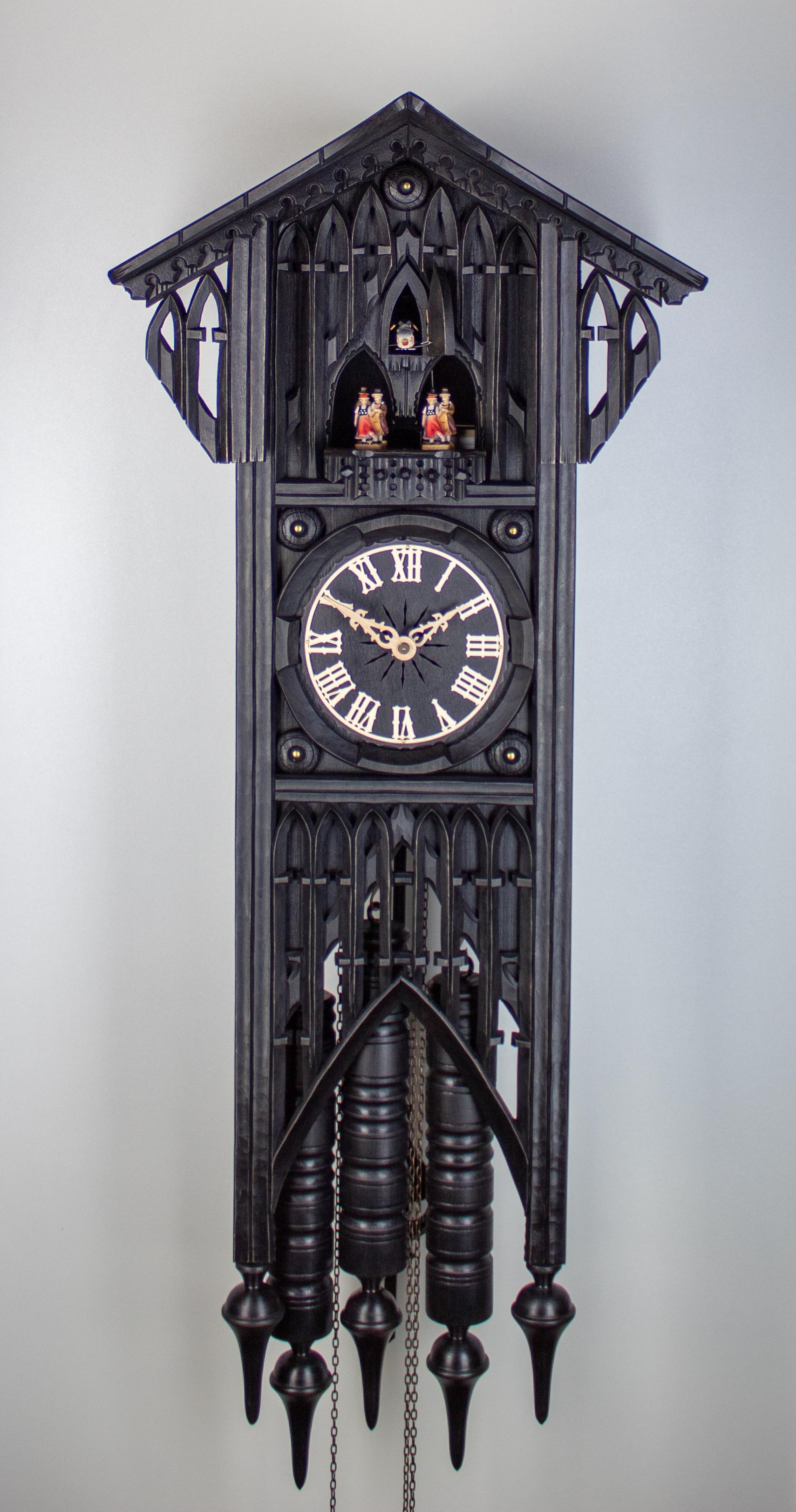 8 Days Music Dancer Cuckoo Clock Gothic Style
