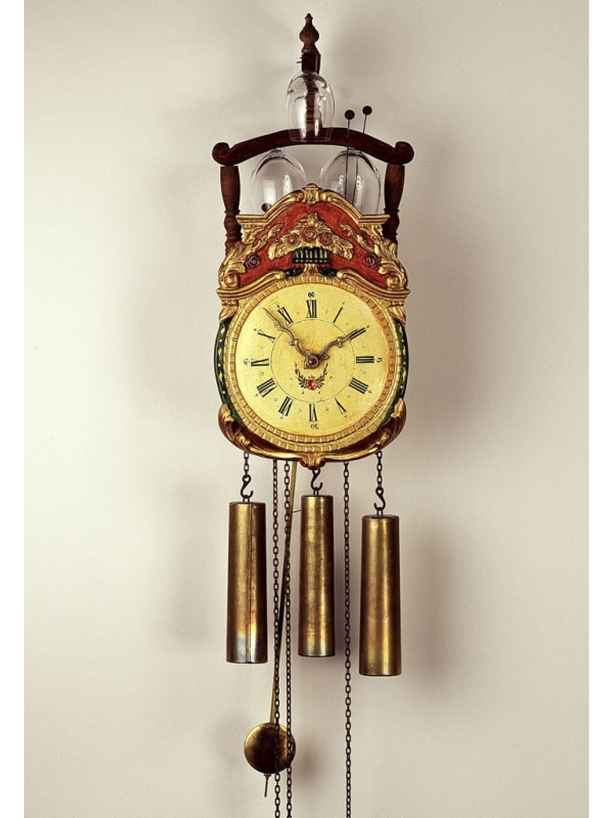 8 Days Shield Clock with glass bells