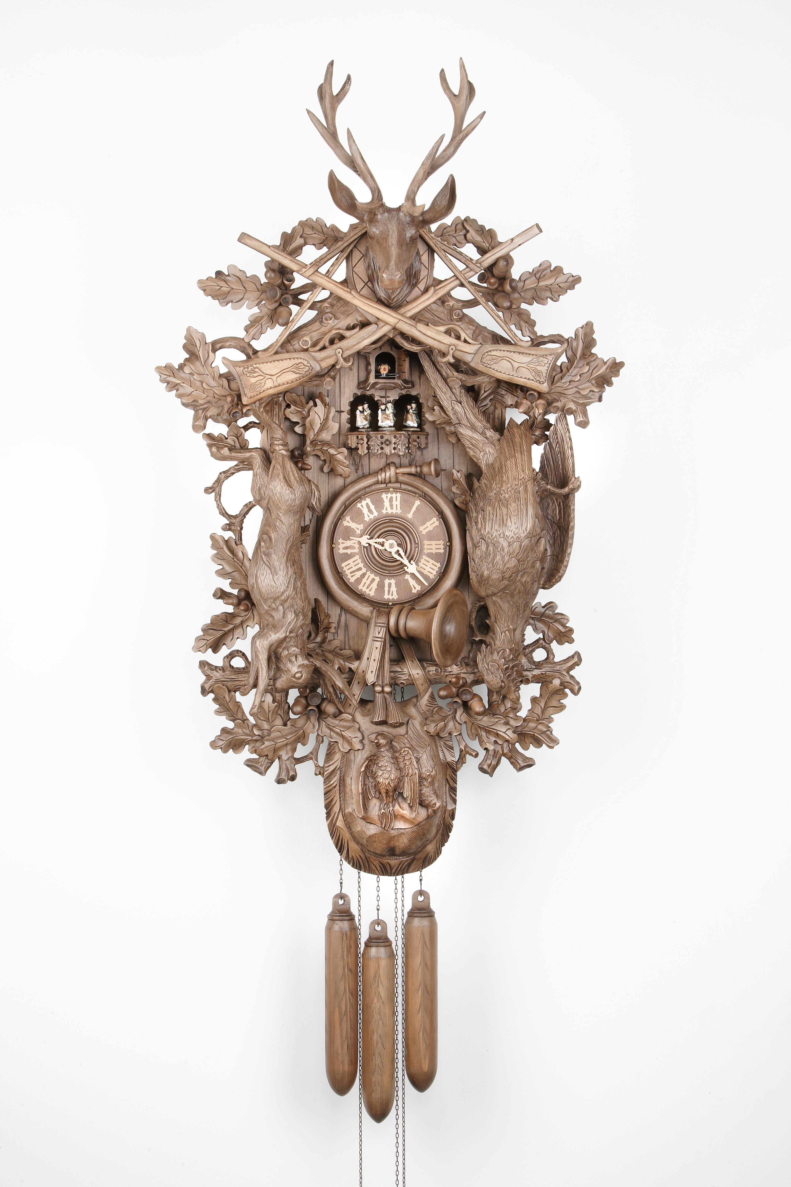 8 Days Music Dancer Cuckoo Clock Hunter Design