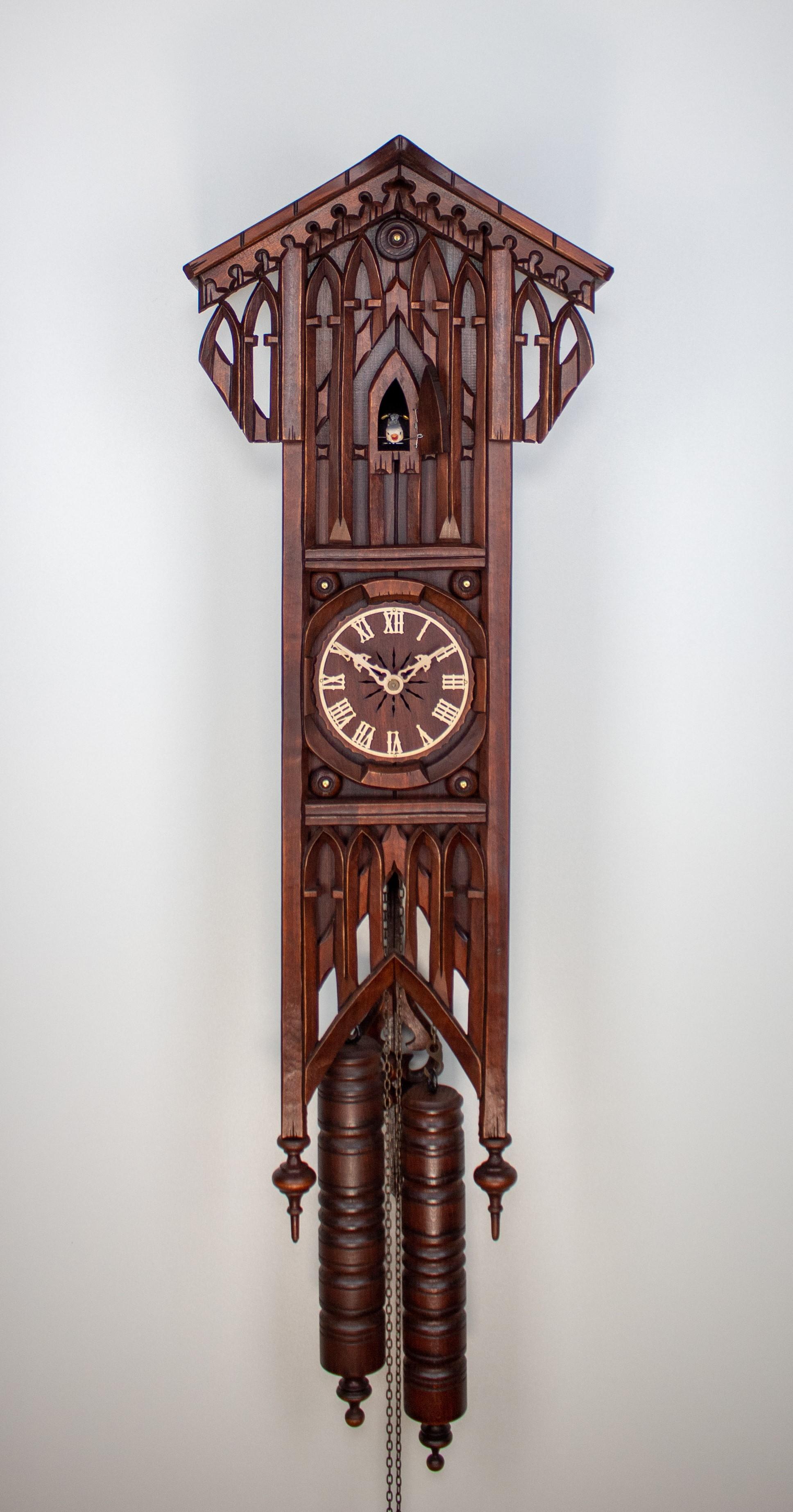 8 Days Cuckoo Clock gothic style