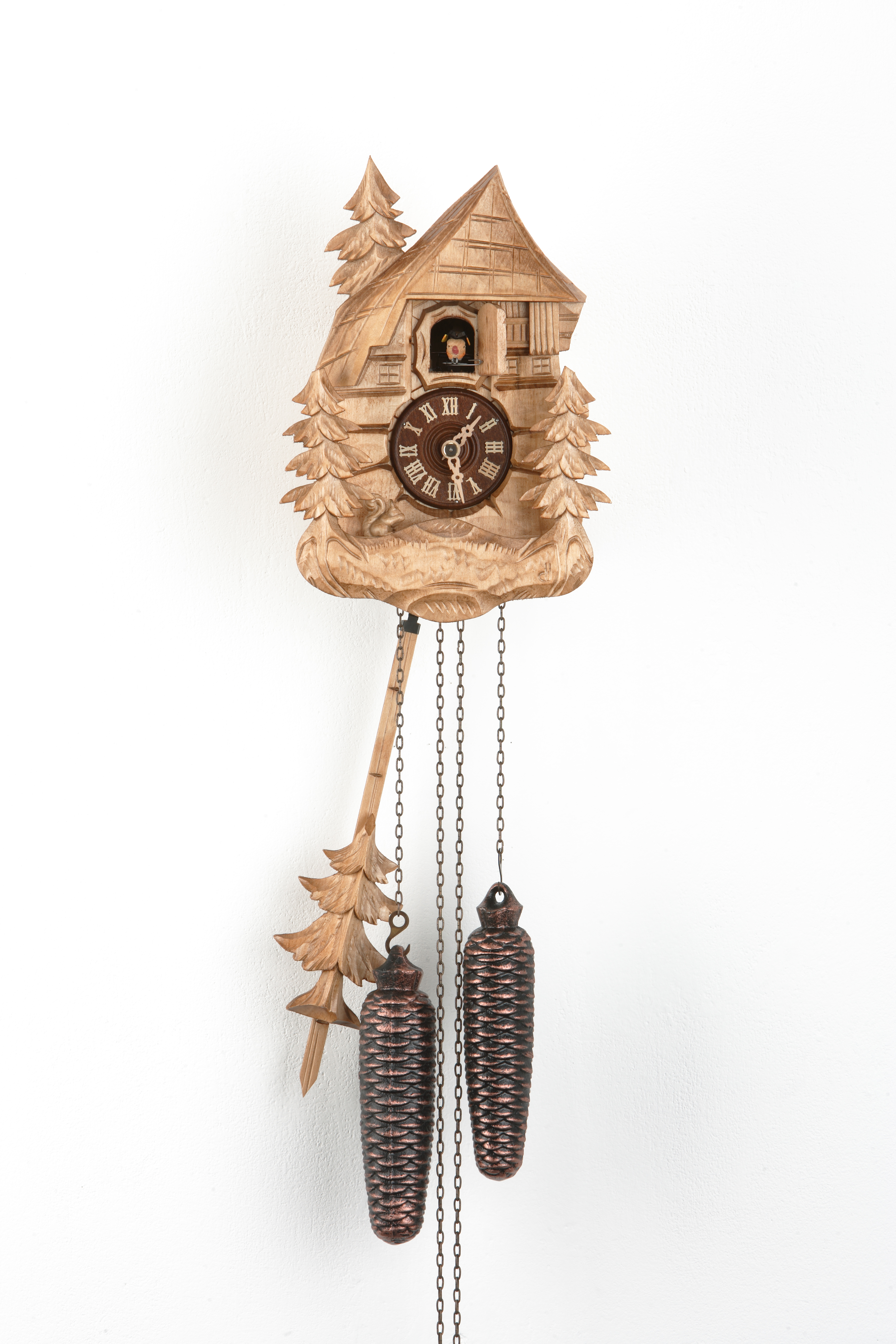 8 Days Cuckoo Clock Black Forest Farmhouse with squirrel