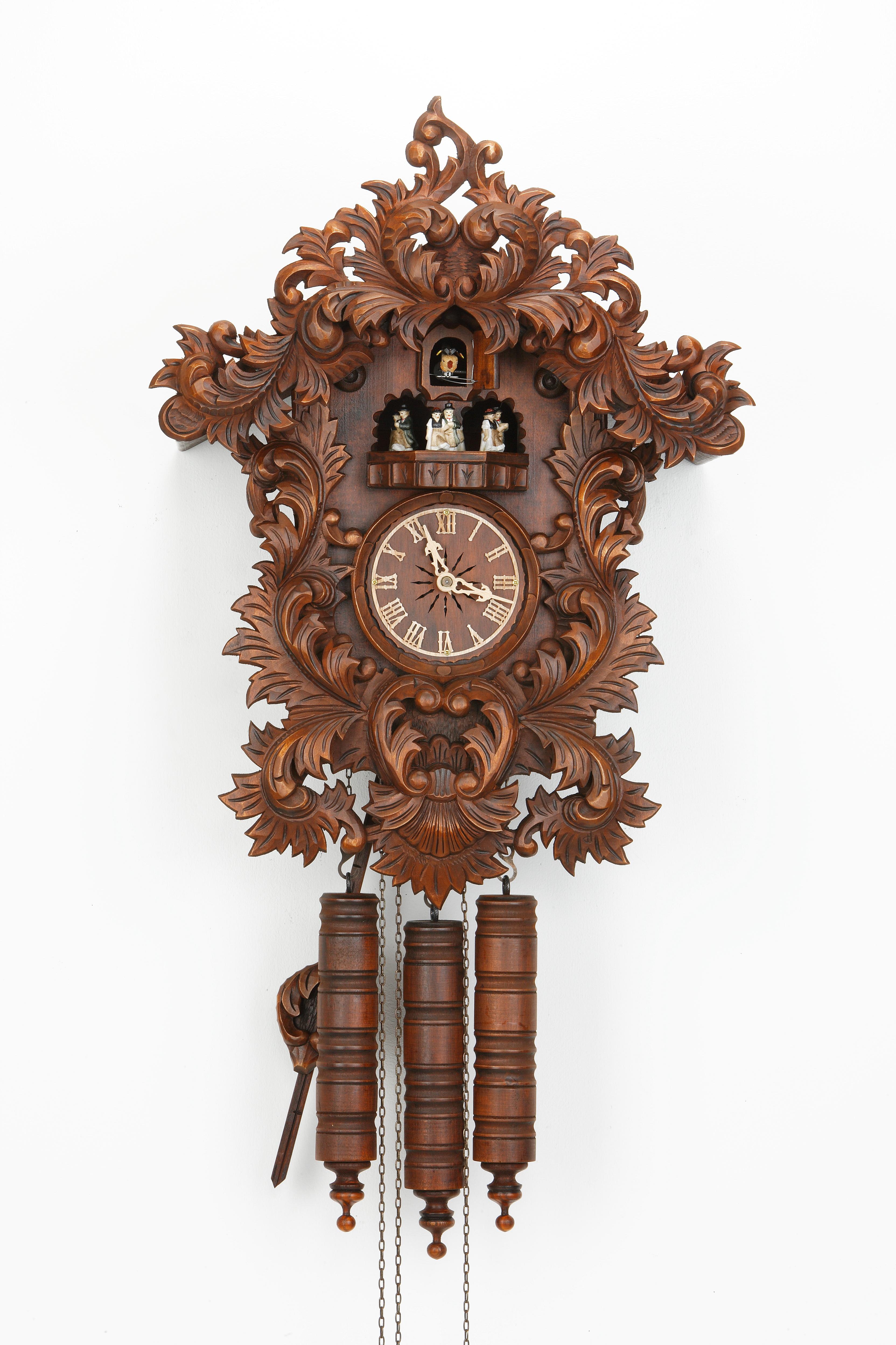 8 Days Music Dancer Cuckoo Clock Baroque Design