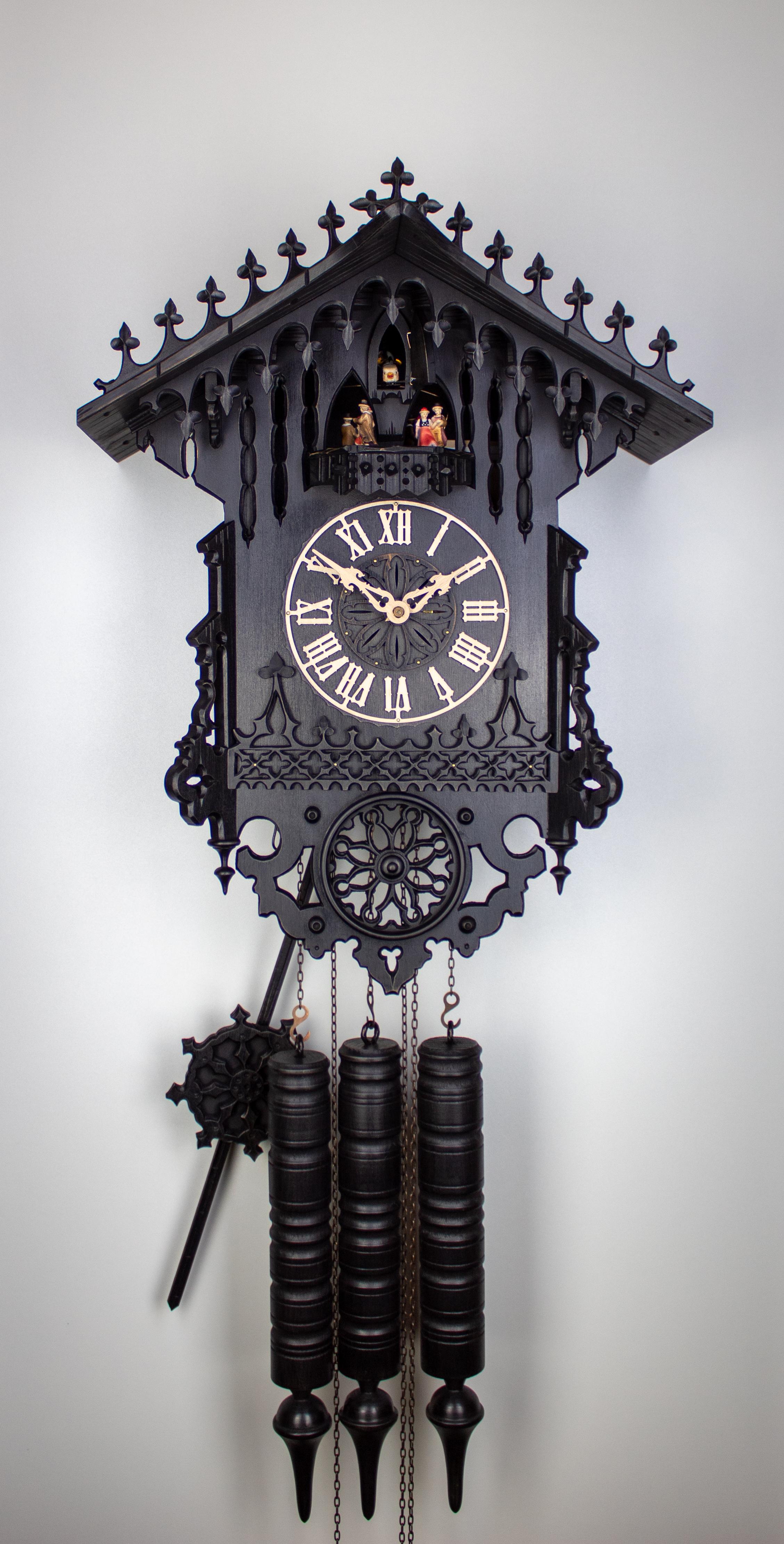 8 Days Music Dancer Cuckoo Clock Gothic 1850