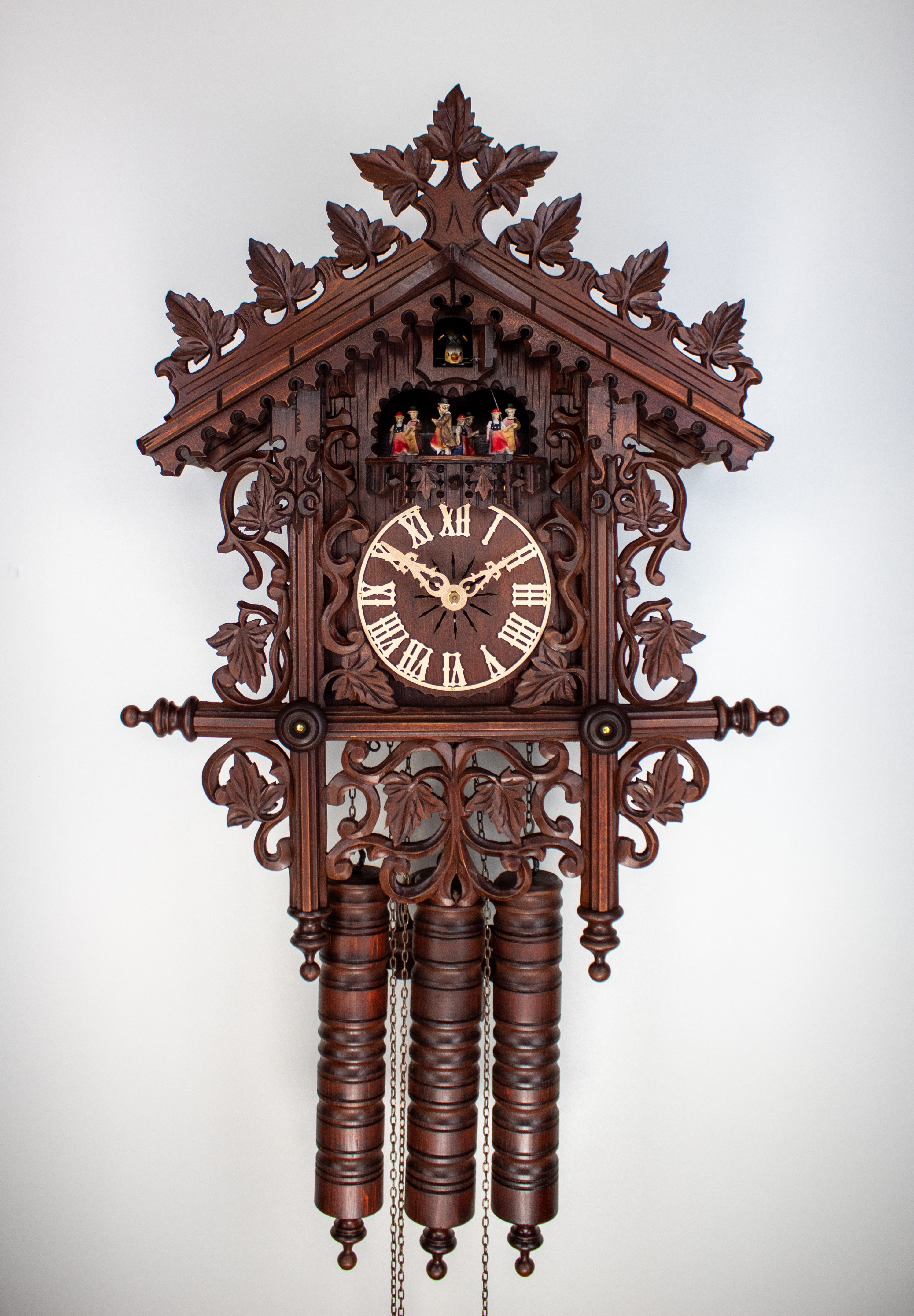 "8 Days Music Dancer Cuckoo Clock Railroad House (""Bahnhäusle"")"